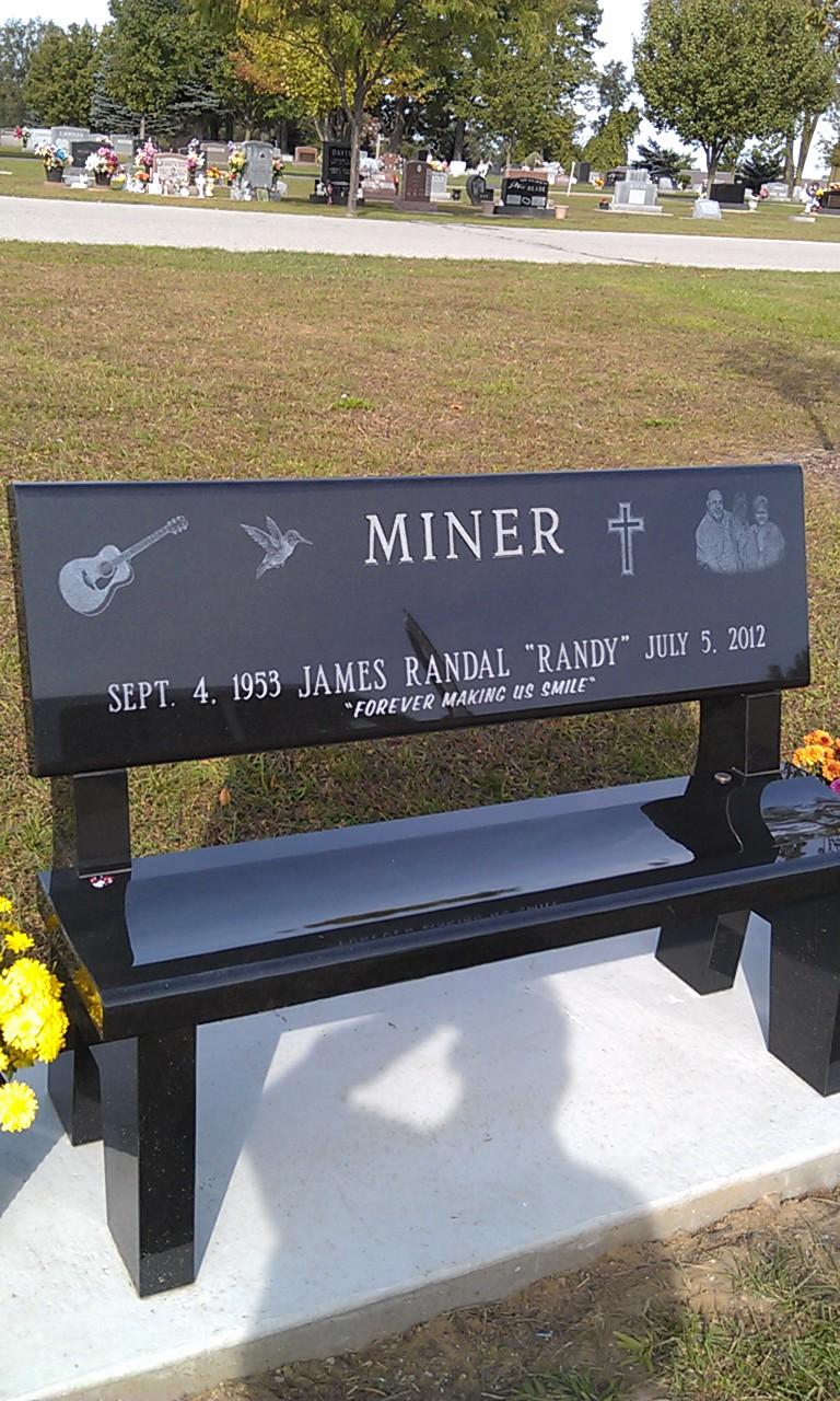 Miner Park Bench